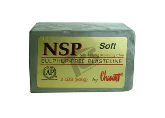 Chavant NSP Soft Green 40lb Case (2lb Blocks)