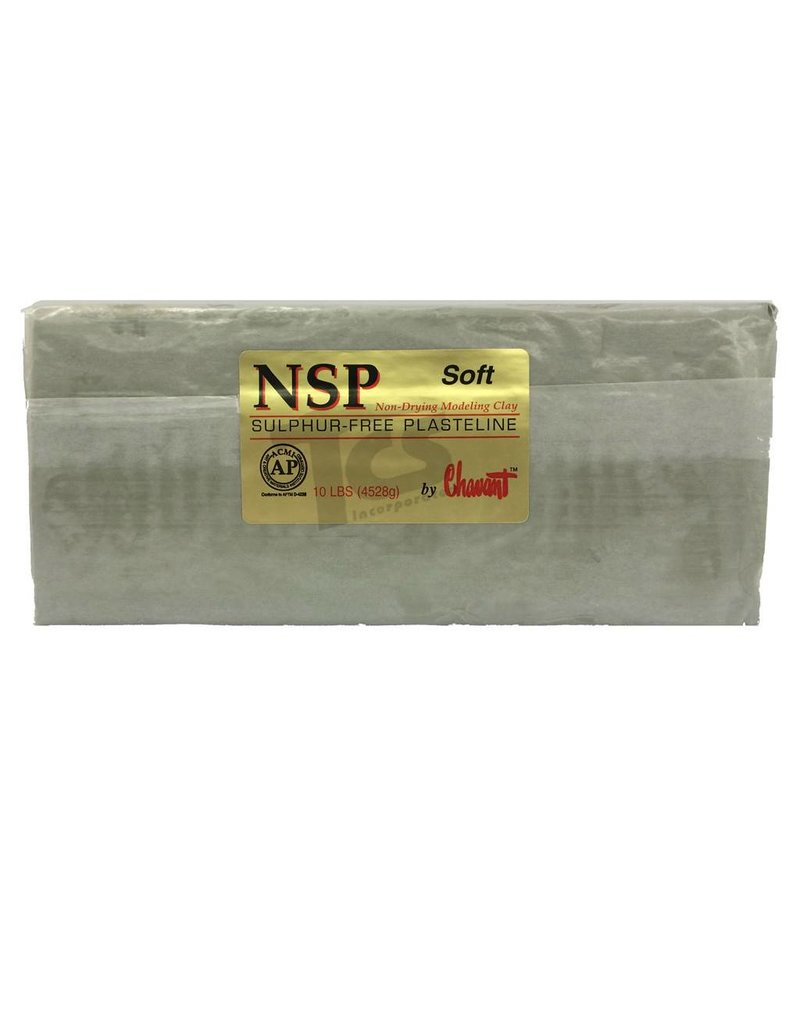 Chavant NSP Soft Green 50lb Case (10lb Blocks)