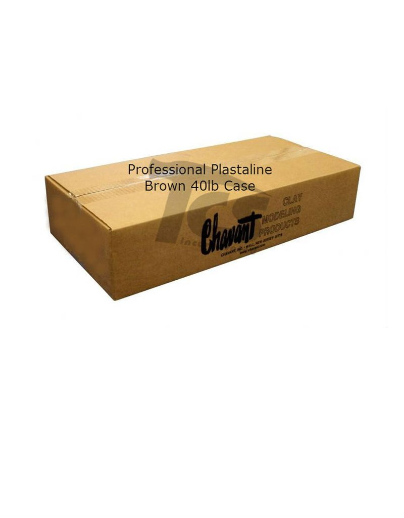 Chavant Chavant Professional Plasteline Brown 40lb Case (2lb Blocks)