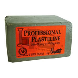 Chavant Professional Plasteline Green 40lb Case (2lb Blocks)