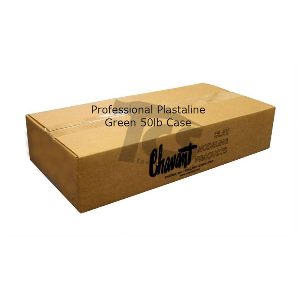 Chavant Professional Plasteline Green 50lb Case (10lb Blocks)