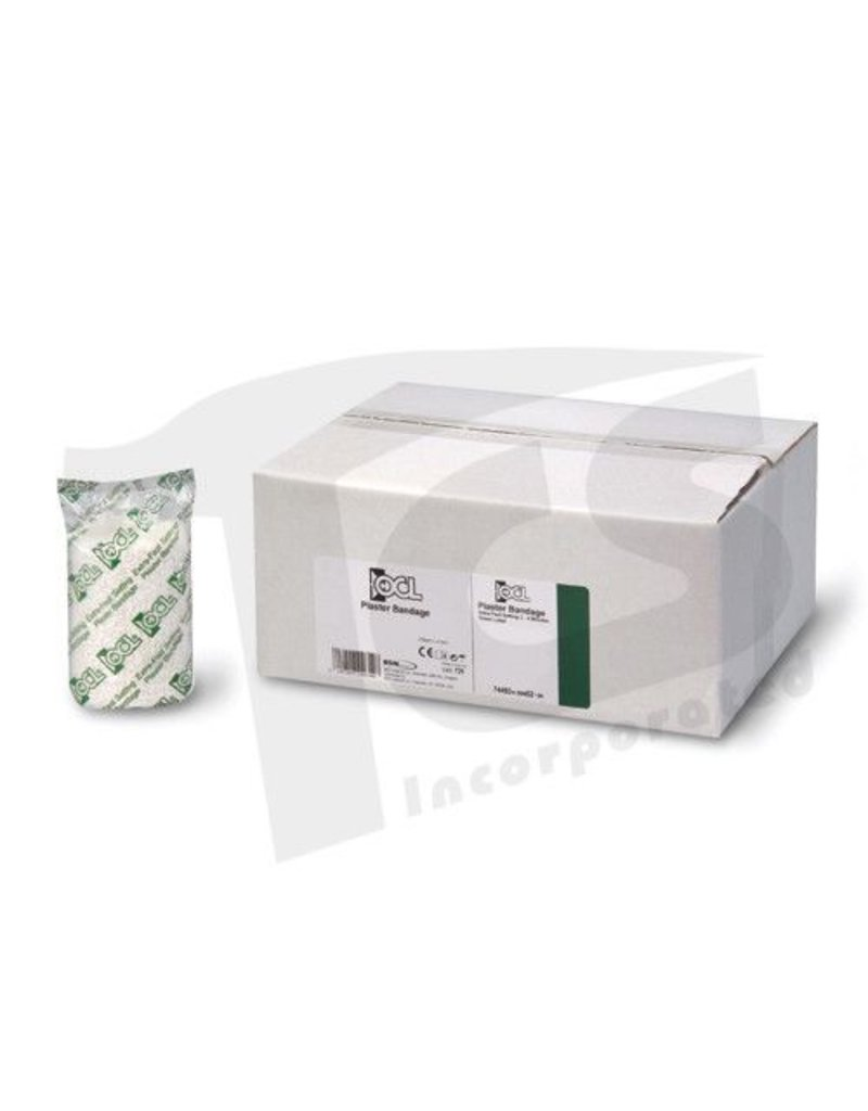 "OCL 5"" Plaster Gauze Case of 4 Boxes (48 rolls)"