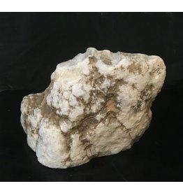 Stone 34lb Mario's White Translucent Alabaster 13x10x6 #101043