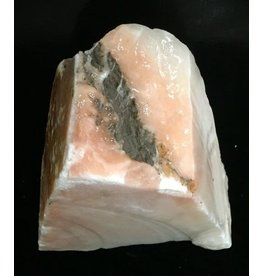 Mother Nature Stone 12lb Peach Translucent Alabaster 12x10x4 #251033