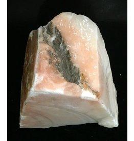 Stone 12lb Peach Translucent Alabaster 12x10x4 #251033
