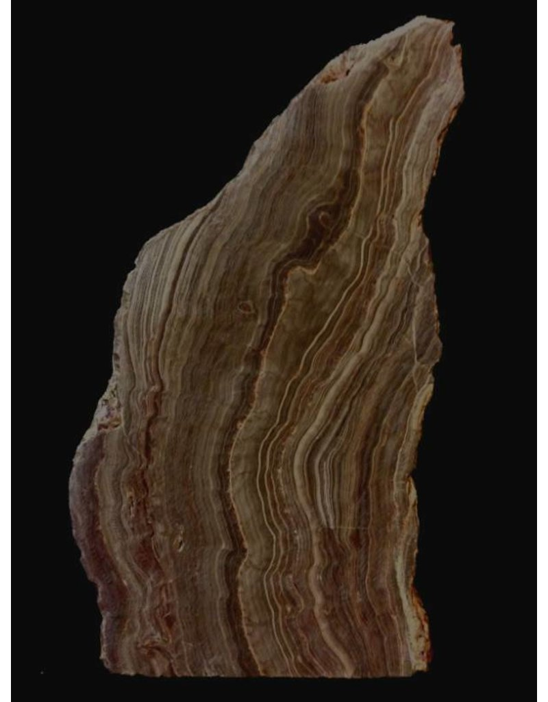 Stone 14lb Brown Banded Onyx Stone 9x6x5 #521037