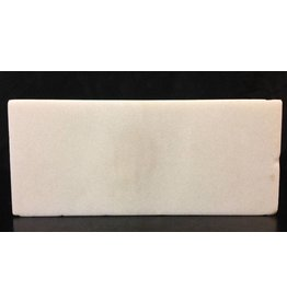 Mother Nature Stone 6lb Chinese White Marble Slab 16x7x0.5 #44333222