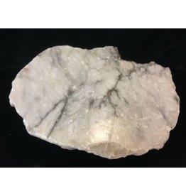Stone 93lb Mario's Italian Bardiglio Alabaster Boulder 21x16x8 #554434
