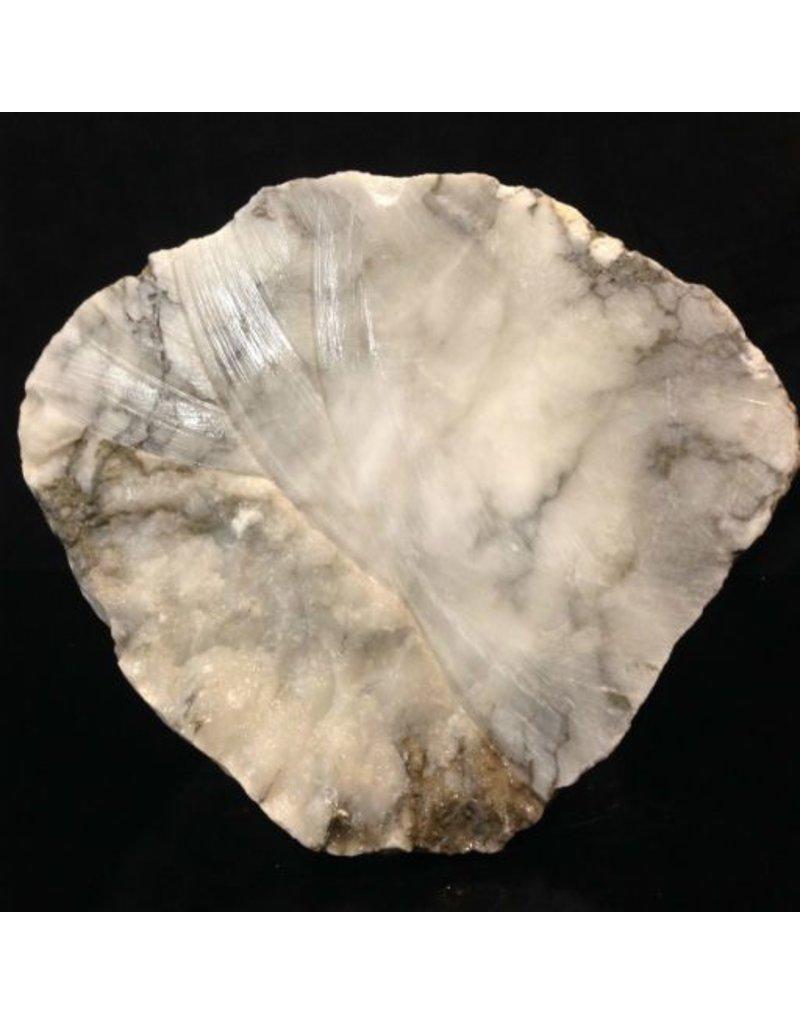 Stone 66lb Mario's Italian Bardiglio Alabaster Boulder 12x12x10 #554436