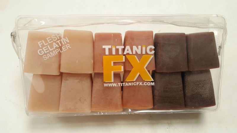 Titanic FX TITANIC FX PROSTHETIC GELATIN - FLESH TONE SAMPLE PACK - INCLUDES LIGHT, MEDIUM & DARK FLESH (1KG)