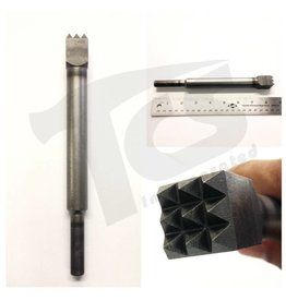 "Milani 9 Tooth Bush Pneumatic Steel 3/4"" (20mm)"