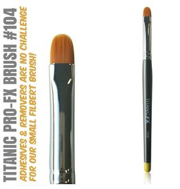 Titanic FX TITANIC PRO-FX BRUSH 104 - SMALL FILBERT BRUSH