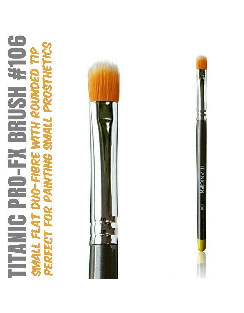 Titanic FX TITANIC PRO-FX BRUSH 106 - SMALL FLAT DUO-FIBRE STIPPLE BRUSH