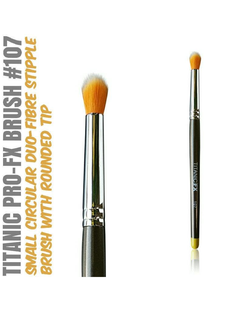 Titanic FX TITANIC PRO-FX BRUSH 107 - SMALL ROUND DUO-FIBRE STIPPLE BRUSH