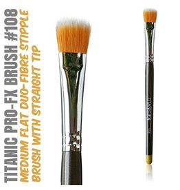 Titanic FX TITANIC PRO-FX BRUSH 108 - MEDIUM FLAT DUO-FIBRE STIPPLE BRUSH