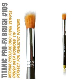 Titanic FX TITANIC PRO-FX BRUSH 109 - MEDIUM ROUND DUO-FIBRE STIPPLE BRUSH