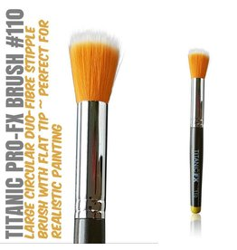 Titanic FX TITANIC PRO-FX BRUSH 110 - LARGE ROUND DUO-FIBRE STIPPLE BRUSH
