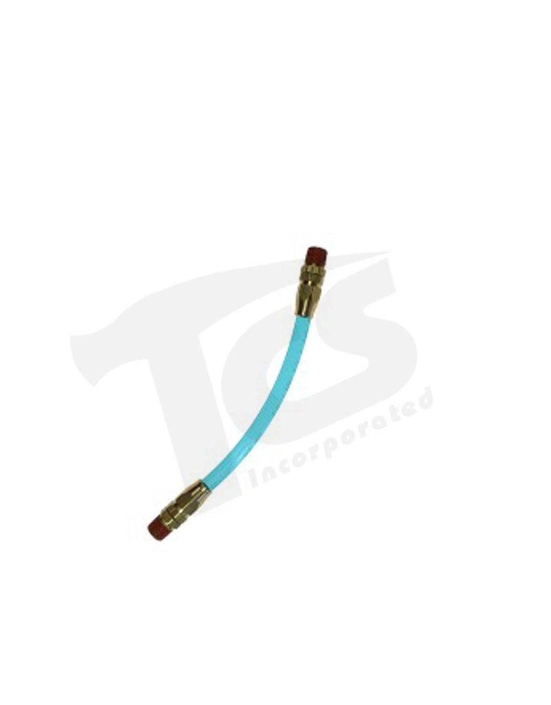 Coilhose 12'' Whip Poly Pigtail, 1/4'' MPT x MPT Swivel (Ball Type) PP0412S