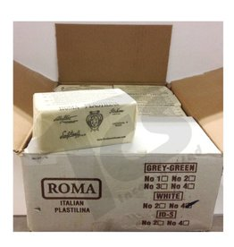 Sculpture House Inc. ROMA #4 White Plastilina 40lb case (20 2lb bricks)