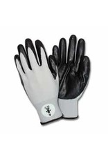 Black Nitrile Coated Nylon Gloves (Pack of 12 Pairs)