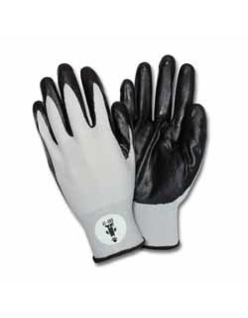 Black Nitrile Coated Nylon Gloves (Pack of 12 Pairs)