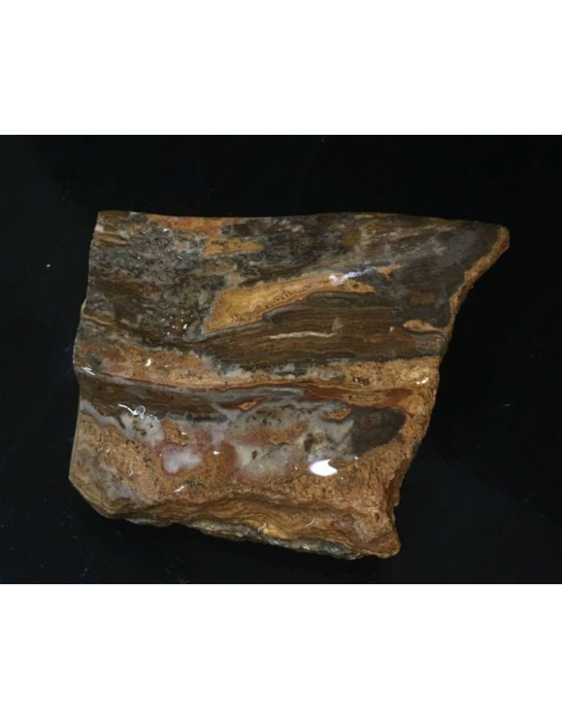 Stone 4lb Brown Banded Onyx Stone 6x4x2 #521039