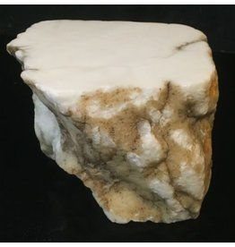 Mother Nature Stone 23lb Tirafsci's White Opaque Slab 9x6x6 #111018