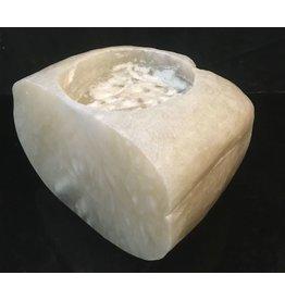 Mother Nature Stone 55lb Mario's Translucent White Alabaster 12x8x8 #101055