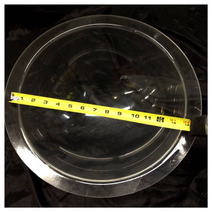"Plexiglass Dome Clear 14"" Dia 1/4"" Thick"