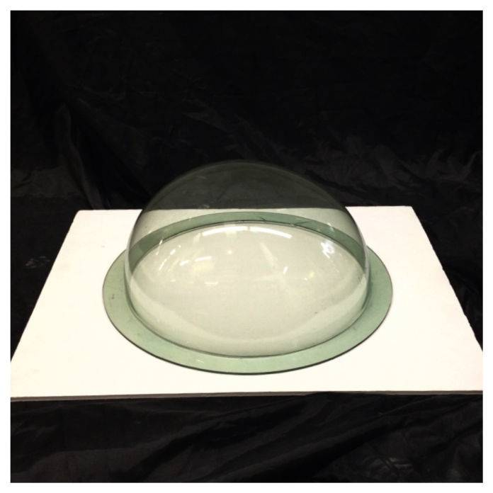 "Plexiglass Dome Clear Green 12"" Dia 1/8"" Thick"