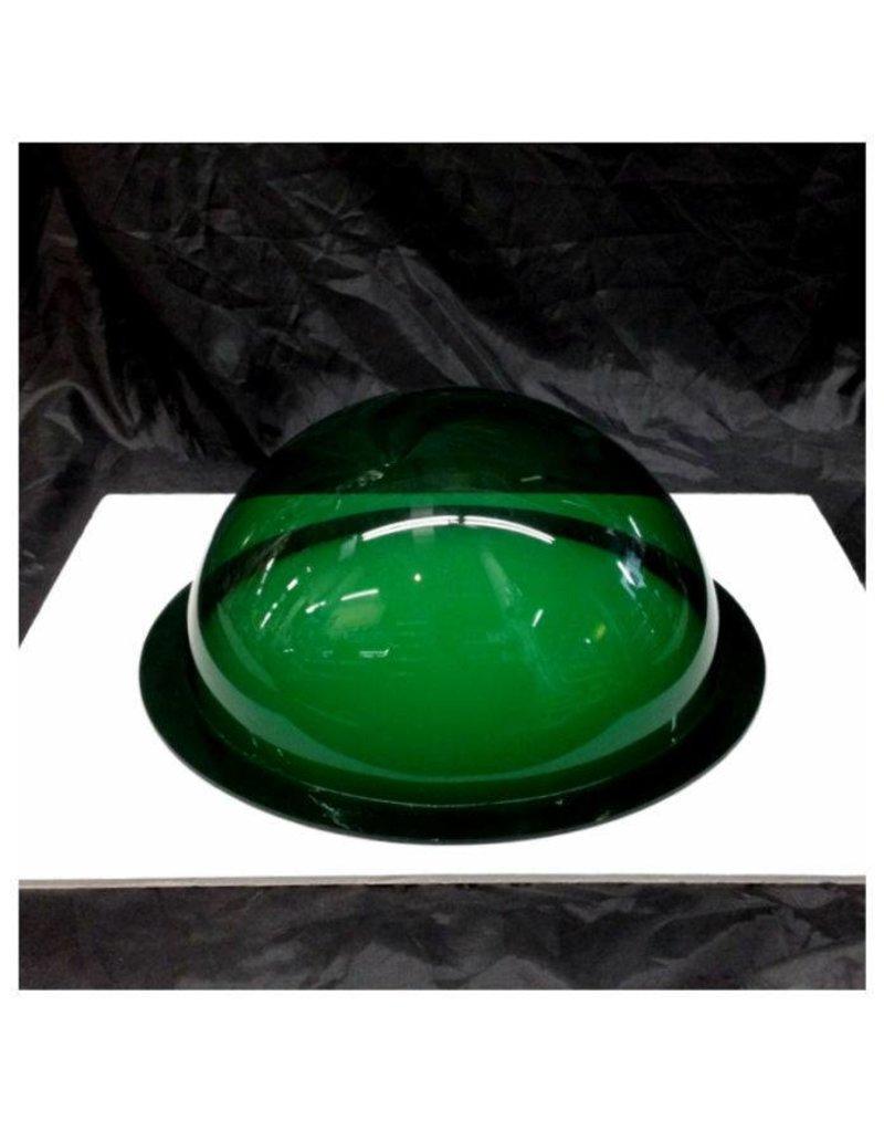 "Plexiglass Dome Clear Dark Green 12"" Dia 1/8"" Thick"