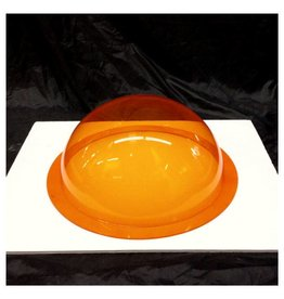"Plexiglass Dome Clear Orange 12"" Dia 1/8"" Thick"