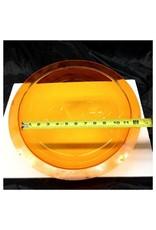 """Plexiglass Dome Clear Orange 12"""" Dia 1/8"""" Thick"""