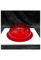 """Plexiglass Dome Clear Red 12"""" Dia 1/4"""" Thick"""