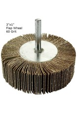 Aluminum Oxide Flap Wheel 3''x1'' 60 grit
