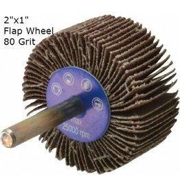 Aluminum Oxide Flap Wheel 2''x1'' 80 grit