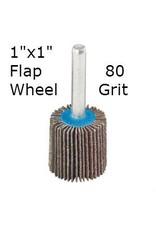 Aluminum Oxide Flap Wheel 1''x1'' 80 grit
