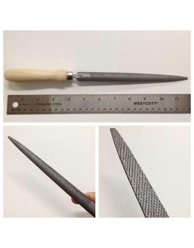Milani Half Round Pointed Cabinet Rasp 20cm Handled
