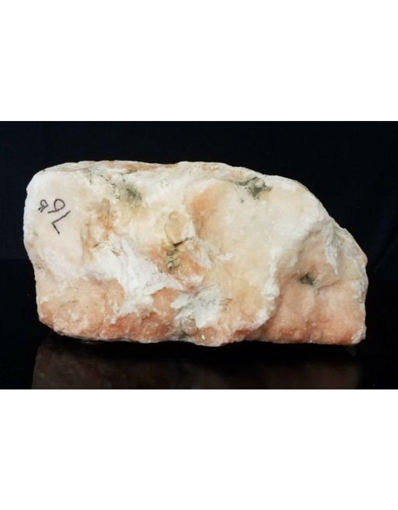 Stone 76lb Peach Translucent Alabaster 14x14x7 #251036