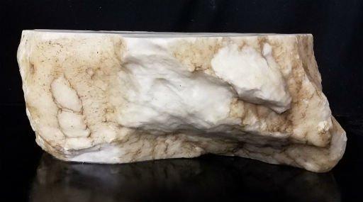 Stone 54lb Tirafsci's White Opaque Slab 14x10x6 #111025