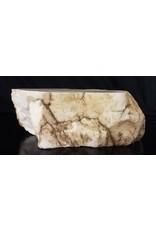 Mother Nature Stone 53lb Tirafsci's White Opaque Slab 17x8x6 #111032