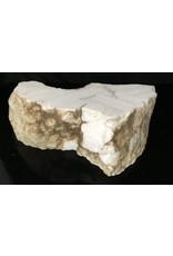 Mother Nature Stone 58lb Tirafsci's White Opaque Slab 19x9x6 #111045