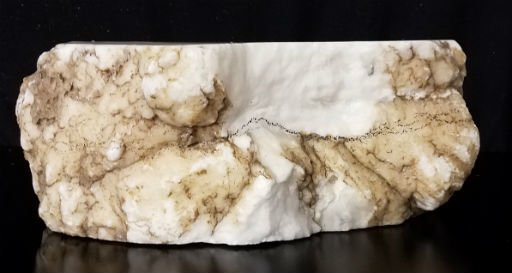 Stone 67lb Tirafsci's White Opaque Slab 14x10x6 #111044