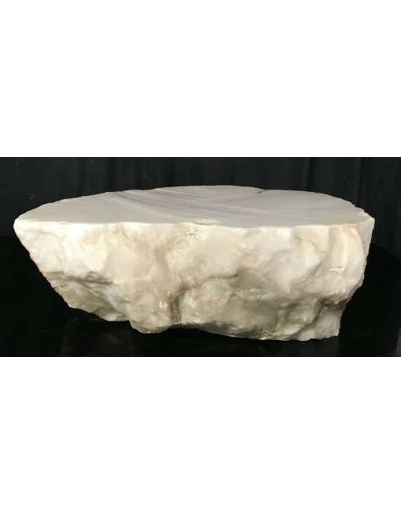 Mother Nature Stone 97lb Tirafsci's White Opaque Slab 18x14x6 #111049