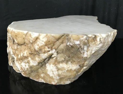 Stone 96lb Tirafsci's White Opaque Slab 18x17x6 #111050