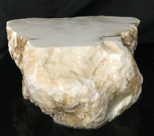 Stone 95lb Tirafsci's White Opaque Slab 16x16x6 #111051