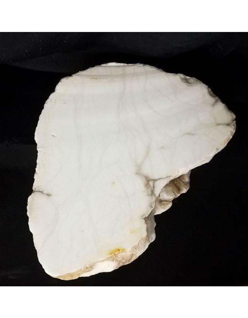 Mother Nature Stone 110lb Tirafsci's White Opaque Slab 20x17x6 #111053