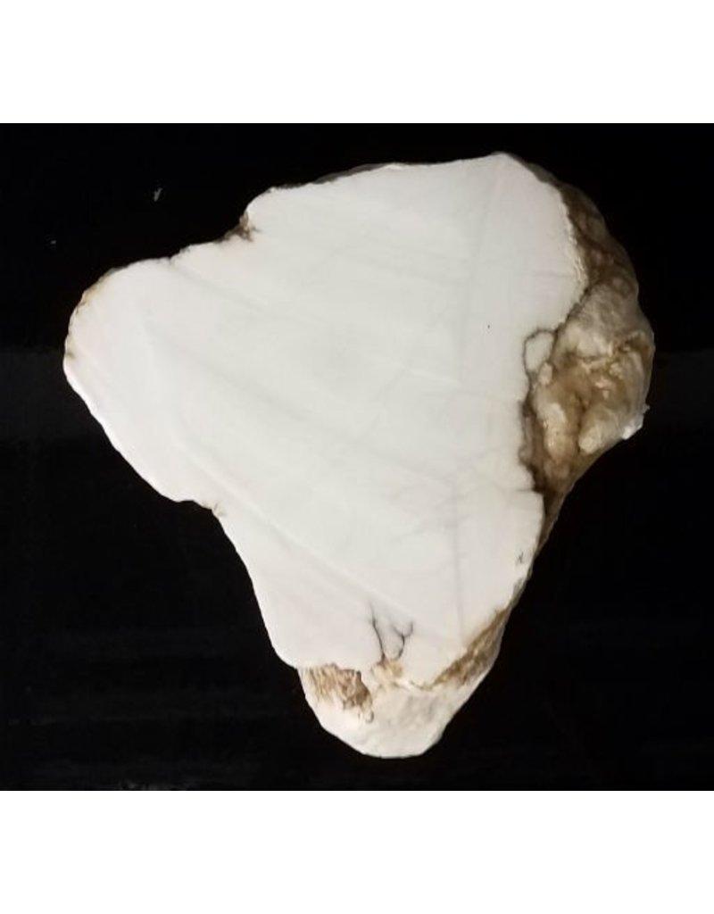 Stone 63lb Tirafsci's White Opaque Slab 14x13x6 #111069