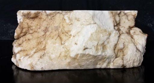 Stone 76lb Tirafsci's White Opaque Slab 15x15x6 #111068