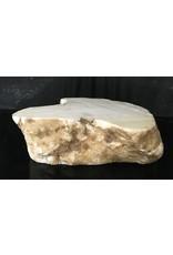 Stone 89lb Tirafsci's White Opaque Slab 18x10x6 #111067